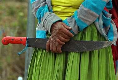 Los indígenas ecuatorianos mantienen las protestas contra el Gobierno de Lenin Moreno. Foto AFP