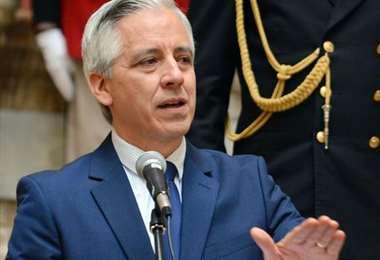 Imagen referencial del vicepresidente Álvaro García Linera