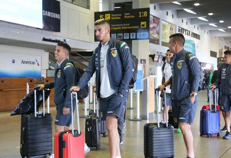 La selección boliviana se trasladó hasta Venezuela