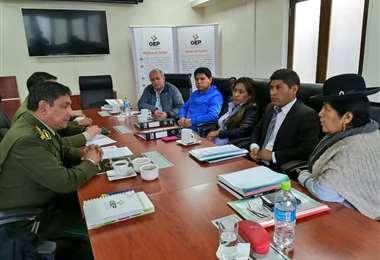 Autoridades del TSE y de la Policía se reunieron este martes I Foto: archivo.