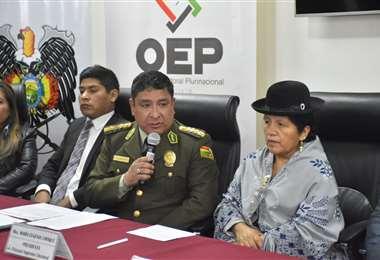 El titular dela Policía en conferencia de prensa I Foto: APG Noticias.