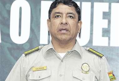 Vladimir Calderón dio el informe