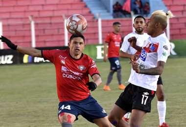 Del partido entre Wilstermann y Nacional Potosí