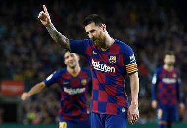 Lionel Messi, estrella del Barcelona. Foto: AFP