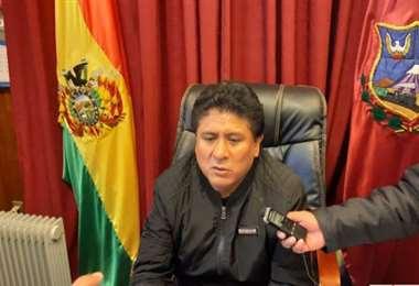 Saúl Aguilar Torrico, fue elegido alcalde del municipio orureño en febrero de este año