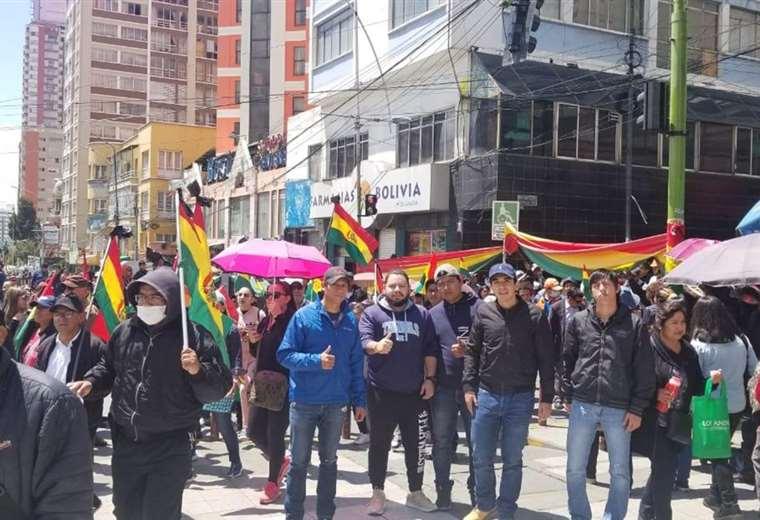 Estudiantes de la Uagrm llegaron en días pasados a La Paz