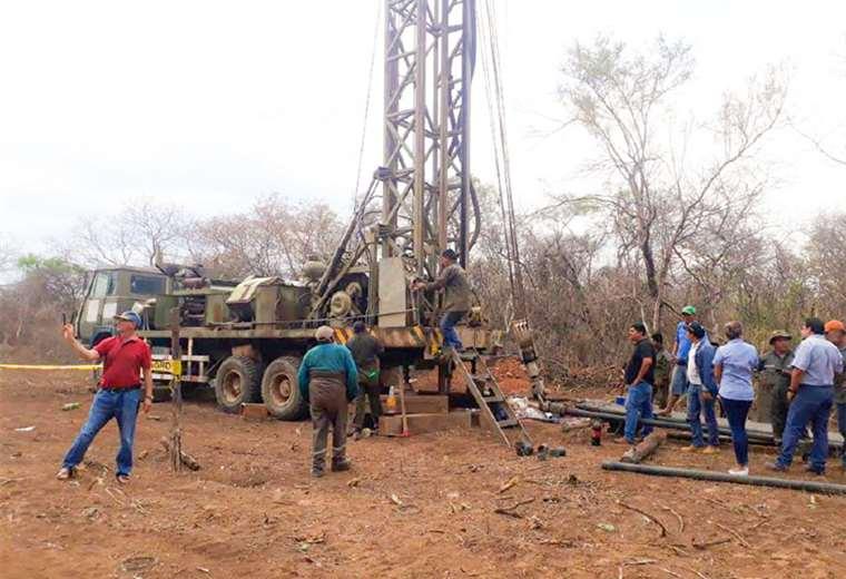 En San José de Chiquitos, el Gobierno nacional perforó pozos para garantizar la dotación de agua