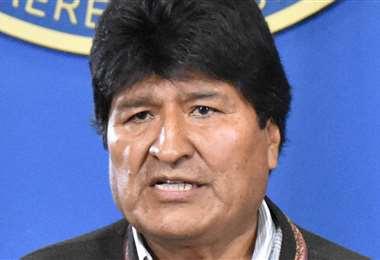 Evo Morales, presidente del Estado