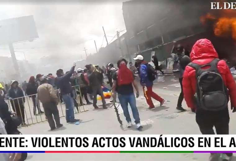 La violencia se apodera de El Alto (Foto: captura)