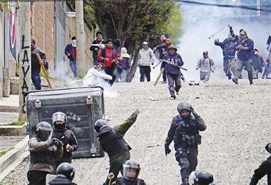 Efectivos militares fueron desplegados en varias zonas de La Paz