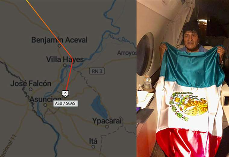 El avión de la Fuerza Aérea Mexicana hizo escala en Paraguay