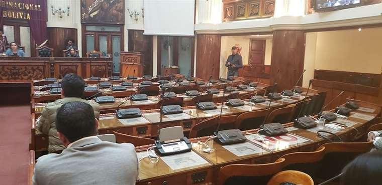 La sesión en la Cámara Baja estuvo vacía I Foto: Amílcar Barral.
