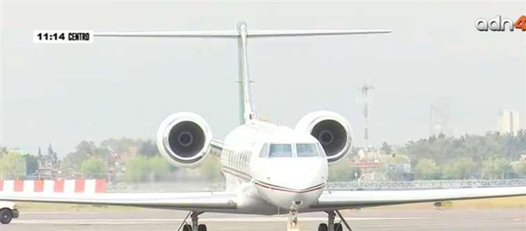 El avión que llevó de Bolivia a México a Evo Morales