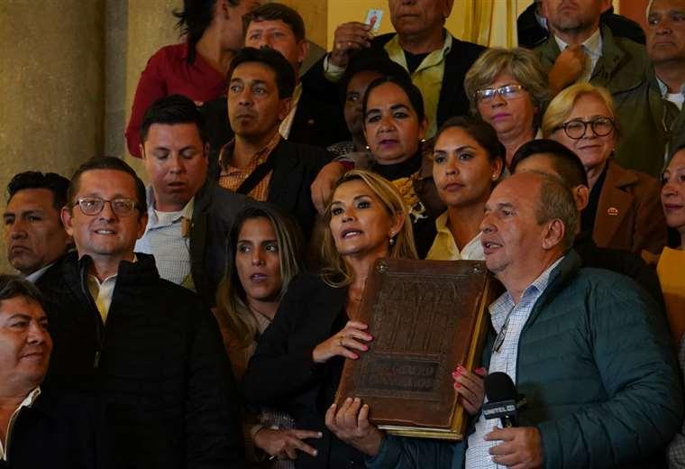La titular al interior de Palacio Quemado I Foto: APG Noticias.