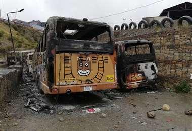 Los motorizados fueron quemados en un depósito de la zona Sur I Foto: AMN.