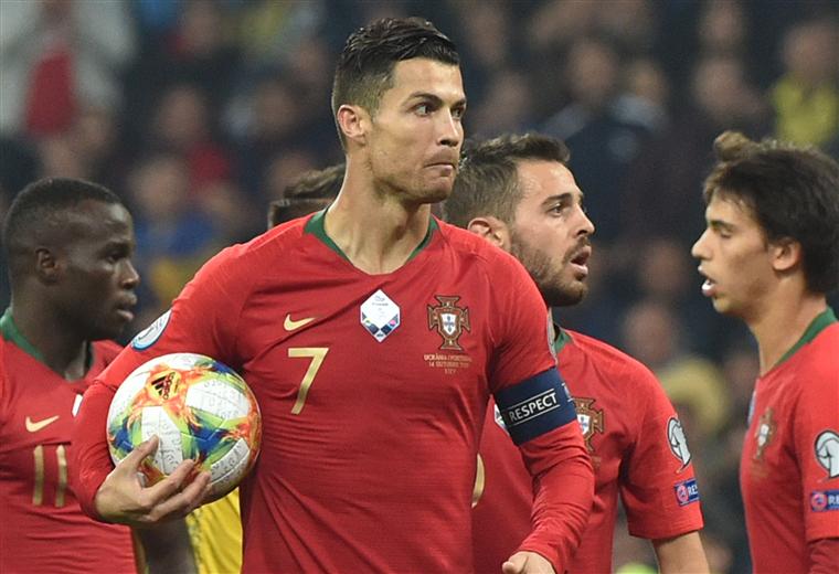 Cristiano Ronaldo jugador de la selección de Portugal. Foto: AFP