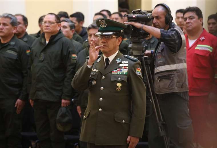 El nuevo titular de la institución del orden I Foto: Bolivia Tv.