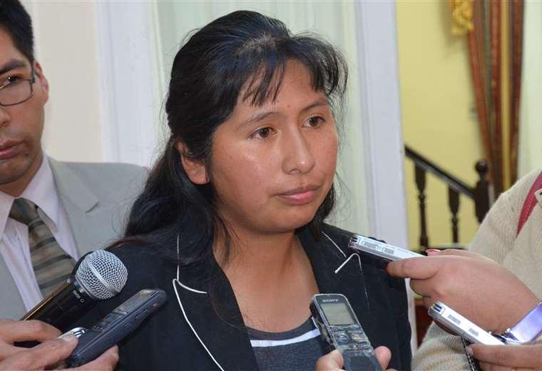 La presidenta del Senado es representante de La Paz (ABI)