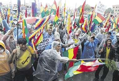 Los cocaleros de Chapare se movilizaron ayer y decidieron emprender una marcha hacia La Paz en rechazo al Gobierno de Jeanine Áñez