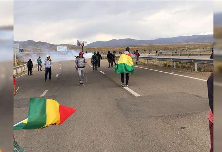 El fraude electoral provocó enfrentamientos en Oruro y el resto del país (Foto: Guy Ajata)