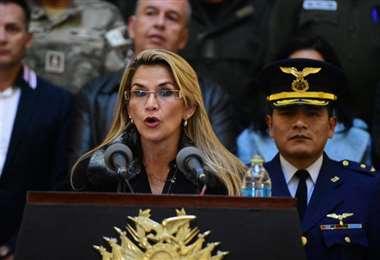 La titular se pronunció desde Palacio Quemado I Foto: Presidencia.