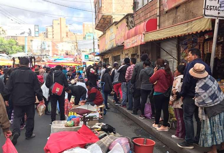 Este es el ambiente en el mercado Rodríguez. Foto: Jesús Alanoca
