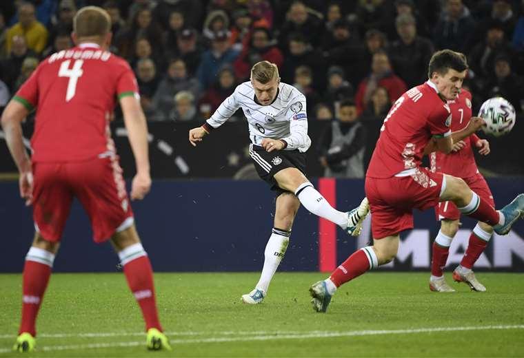 Kroos destacó en la goleada a Bielorrusia. Foto: AFP