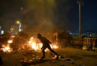 Los manifestantes no cesan sus movilizaciones. Foto: AFP