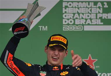 Max Verstappen impuso su ley en el circuito de Brasil. Foto: AFP
