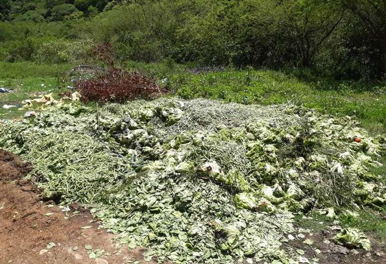 Los bloqueos en la ruta a los valles han afectado a los horticultores. Esta imagen fue tomada este sábado