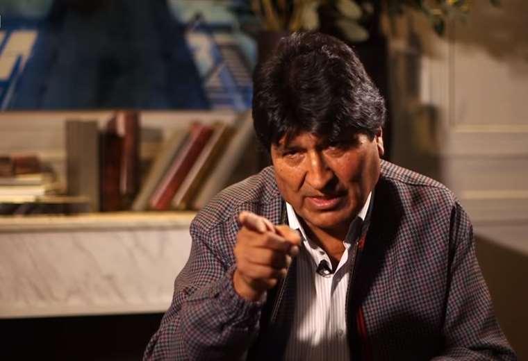 Evo Morales durante la entrevista con BBC. Foto: captura
