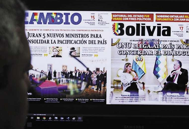 El diario estatal pasa a llamarse Bolivia. Foto: Jorge Uechi