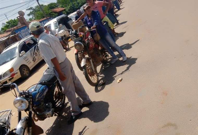 En Guarayos también se tiene una falta de combustible