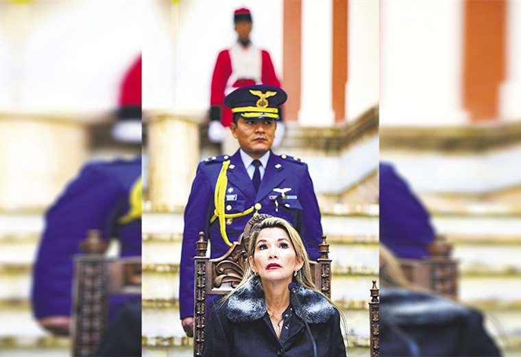 La presidenta en transición Jeanine Áñez desistió de viajar ayer por la mañana a Beni. Foto: AFP