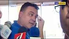 Momento en que Fernando Blanco y Marco Rodríguez se agreden