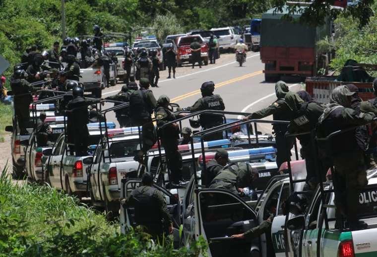 Los uniformados sentaron presencia en la zona. (Foto: Rolando Villegas)