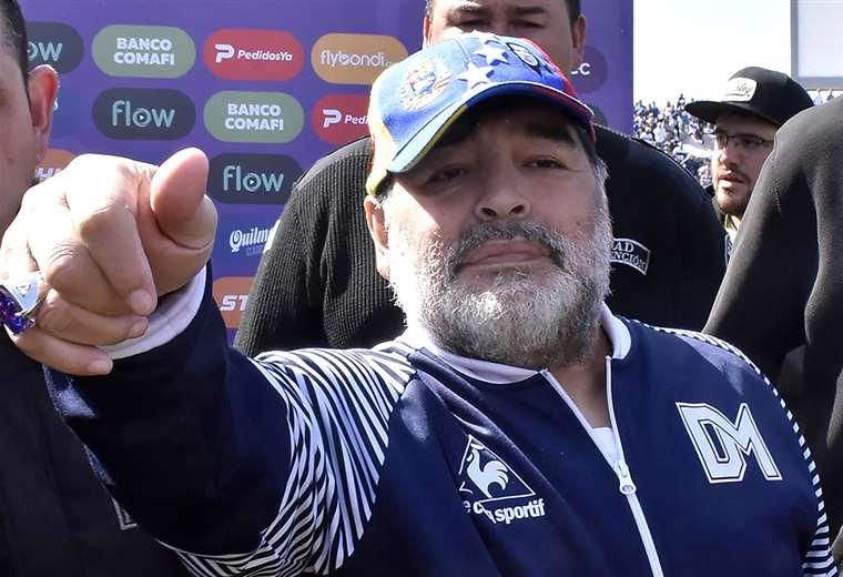 Al mando de Maradona Gimnasia ganó tres partidos y perdió cinco. Foto. AFP