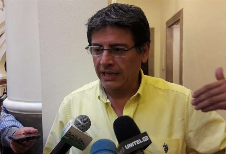 La autoridad en diálogo con medios en Palacio Quemado I Foto: Presidencia.
