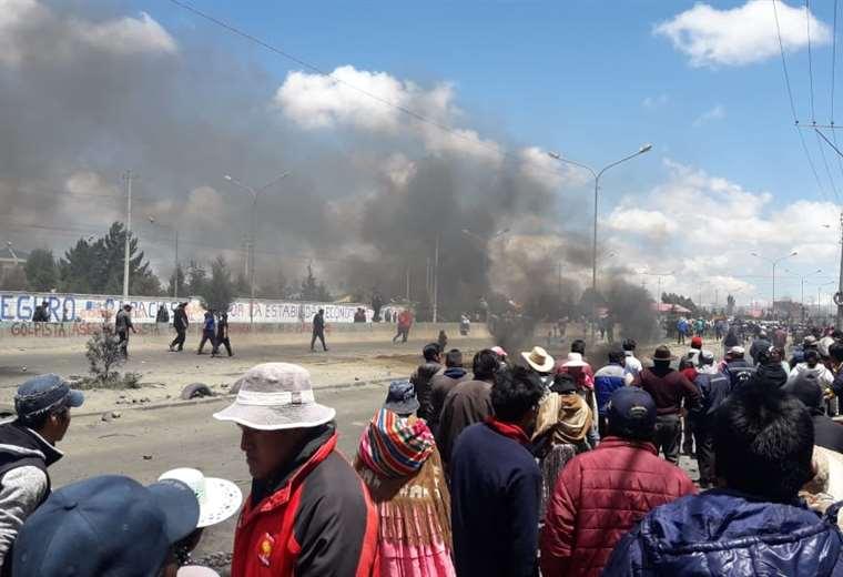 Se vivió una jornada de violencia en la urbe alteña I Foto: Telesur.
