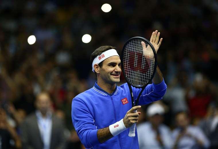Federer fue recibido por los aficionados chilenos. Foto: AFP