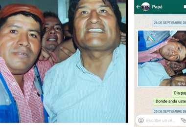 Esta es una de las imágenes que se encontraron en el celular