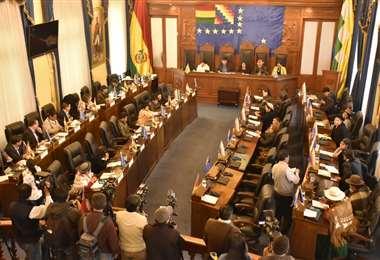 La Cámara Alta sesionó esta jornada y se prevé lo mismo en Diputados I Foto: APG Noticias.