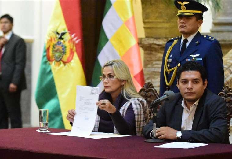 El texto fue presentado en Palacio Quemado I Foto: Presidencia.