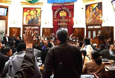 La sesión al interior de la Cámara Baja I Foto: Diputados.