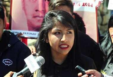 La hija del exprimer mandatario Morales I Foto: archivo.