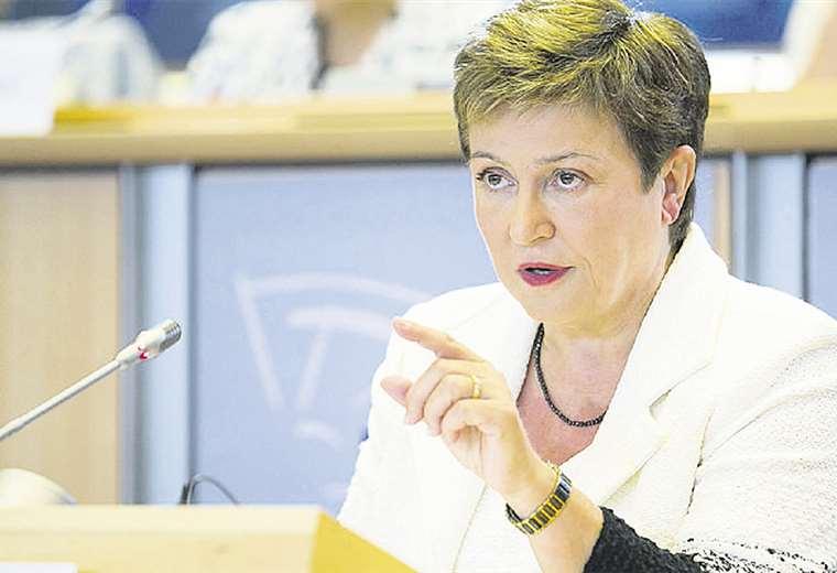 La directora del FMI, la búlgara Kristalina Georgieva, explicó la situación durante un encuentro en China. Foto: AFP