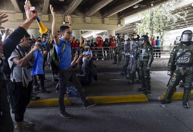 Una jornada de movilizaciones en todo Colombia