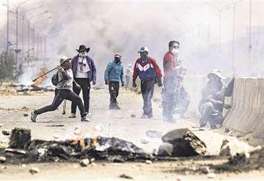 El martes hubo violentas protestas en los alrededores de Senkata. Foto: APG Noticias