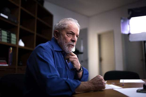 Lula habló sobre Evo durante una entrevista. Foto The Guardian