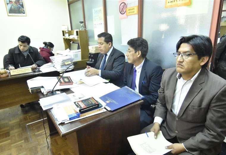 El excandidato del MAS en la audiencia de medidas cautelares I Foto: Periódico Bolivia.